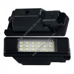 Pack module de Plaque d'immatriculation Led blanc pour Peugeot 207 307 308 406 407 408 508 1007 3008 5008 RCZ Partner Expert
