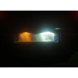 Pack Ampoule LED Plaque d'immatriculation blanc pour Nissan Qashqai
