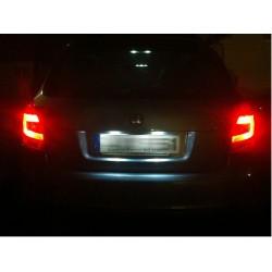 Led 807 Plaque Pour D'immatriculation Blanc Peugeot Pack Ampoule rdeCxWBo